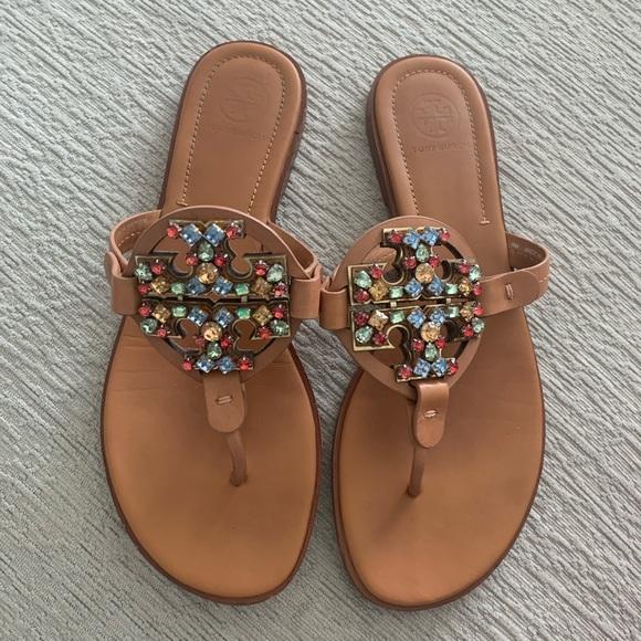 Crystal Miller Desert Camel Sandals